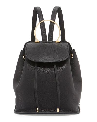 Betta Gancio Bracelet Backpack, Nero