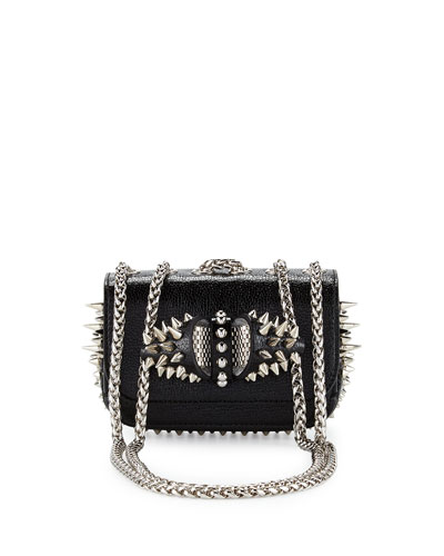Sweety Charity Spikes Crossbody Bag, Black