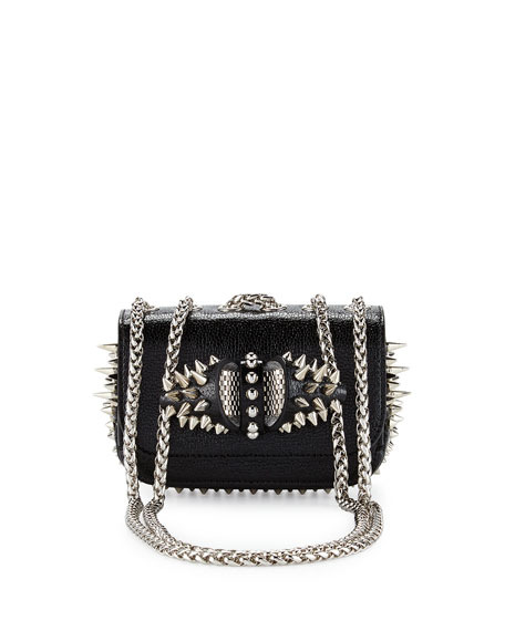 Christian Louboutin Sweety Charity Spikes Crossbody Bag, Black