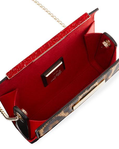 Vanite Small Leopard-Print Clutch Bag