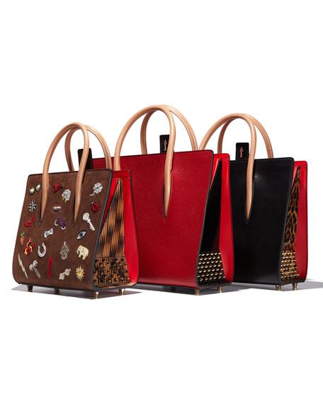 Paloma Medium Triple-Gusset Tote Bag, Black