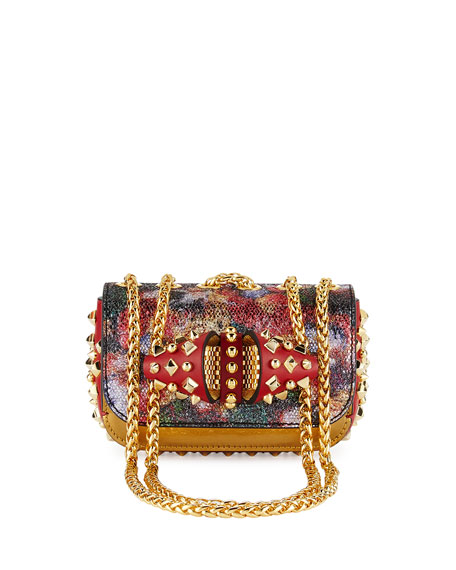 Christian Louboutin Sweety Charity Spikes Glitter Crossbody,