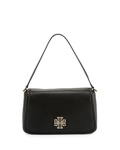 Britten Leather Shoulder Bag, Black
