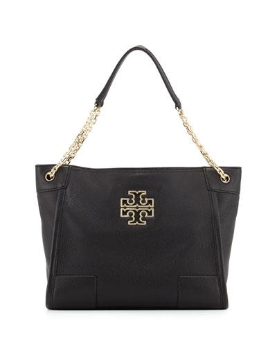 Britten Small Zip Tote Bag, Black