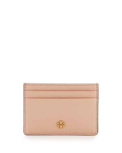 Robinson Slim Card Case, Pale Apricot