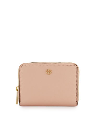 Robinson Zip Coin Case, Pale Apricot