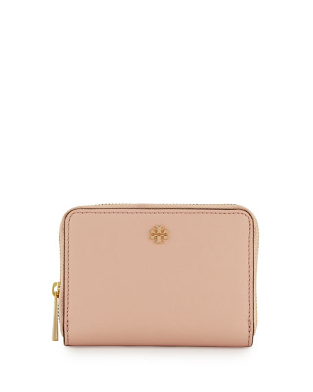 Tory BurchRobinson Zip Coin Case, Pale Apricot