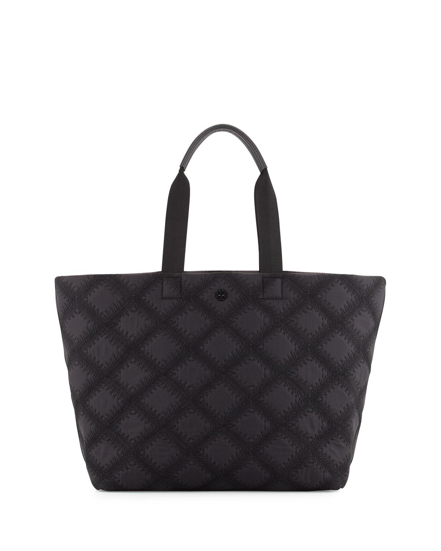 8e8e488a960c Tory Burch Flame-Quilt Nylon Tote Bag