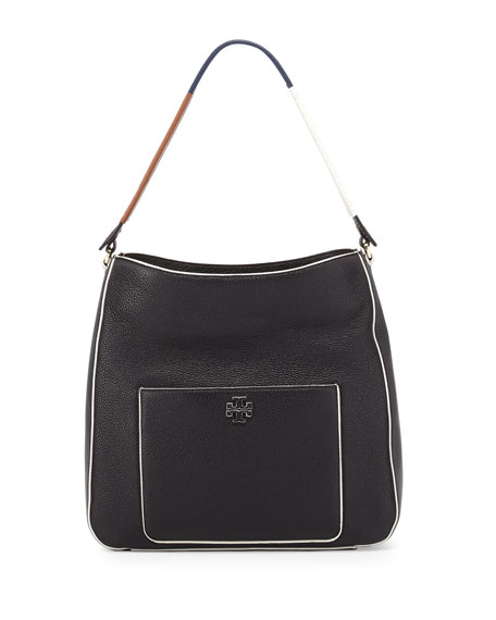Tory Burch Berkeley Wrap-Strap Hobo Bag, Black/Multi