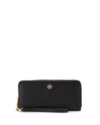 Perry Saffiano Continental Passport Wallet, Black