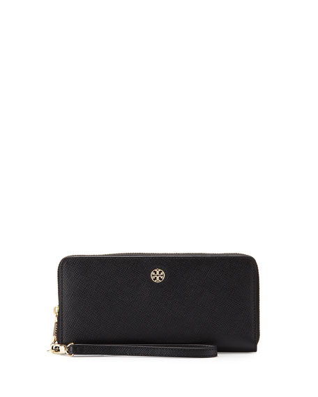 Tory Burch Perry Saffiano Continental Passport Wallet, Black