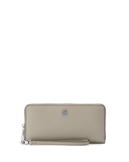 Tory BurchPerry Saffiano Continental Passport Wallet, French Gray