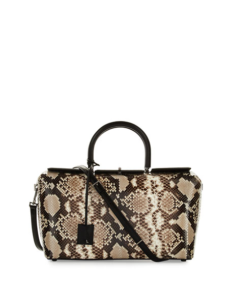 TOM FORD India Medium Python Tote Bag