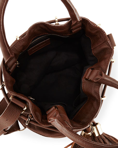 See by Chloe Vicki Leather Bucket Bag, Chocolate