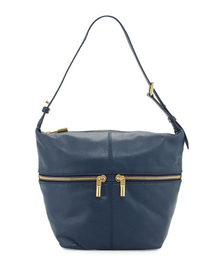 Elizabeth and James James Leather Duffel Hobo Bag,