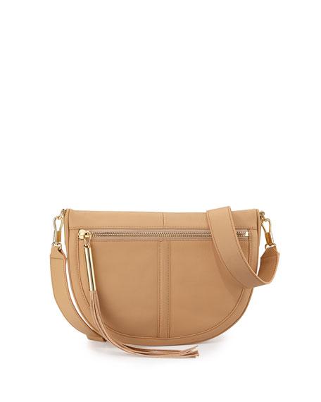 Elizabeth and James Scott Mini Moon Leather Saddle Bag, Natural Tan