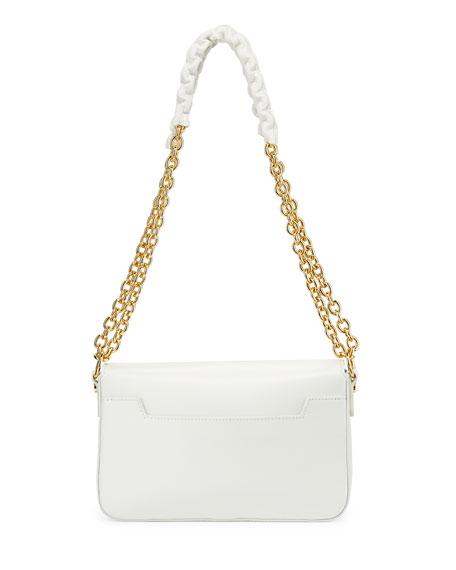 Natalia Small Chain Crossbody Bag, White