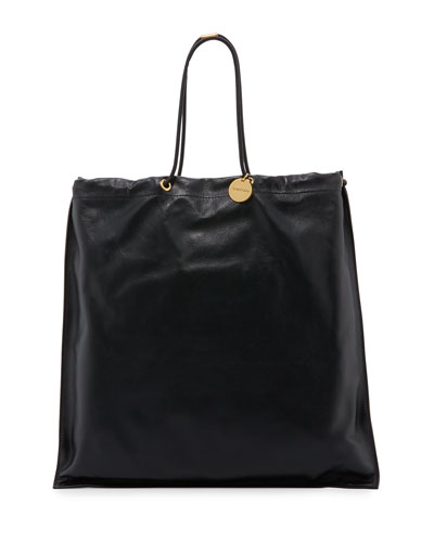 Sailor Shopping Tote Pouch Bag, Black