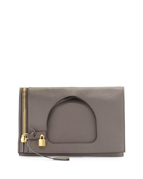 TOM FORD Alix Medium Calf Leather Hobo Bag,