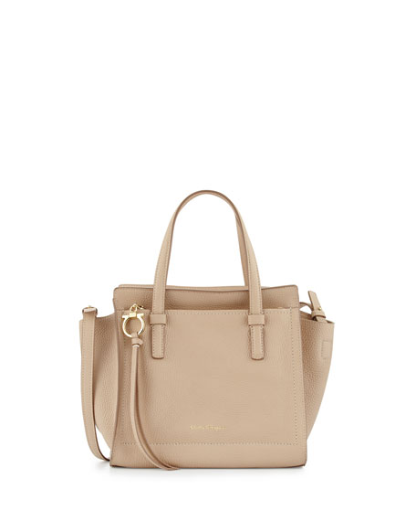 Salvatore Ferragamo Amy Small Gancio Leather Tote Bag,