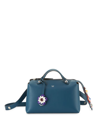 Small By the Way Flower Satchel Bag, Blue Multi