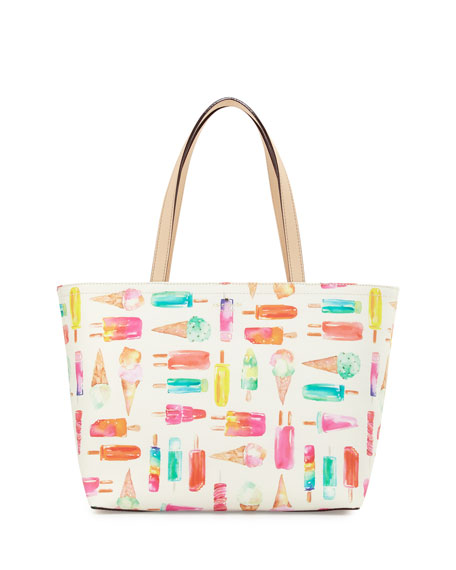 flavor of the month ice cream francis tote bag, multi