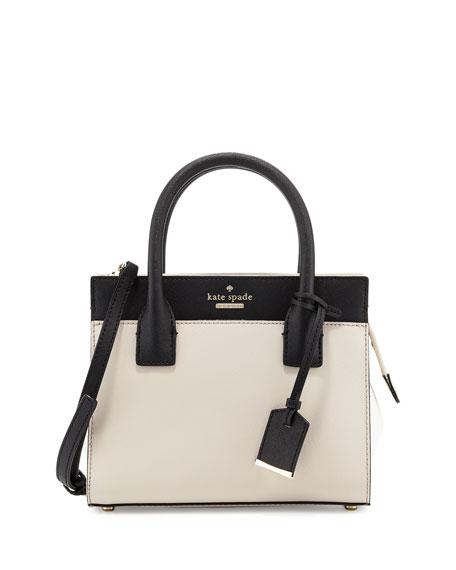 kate spade new york cameron street mini candace satchel bag, crisp ...