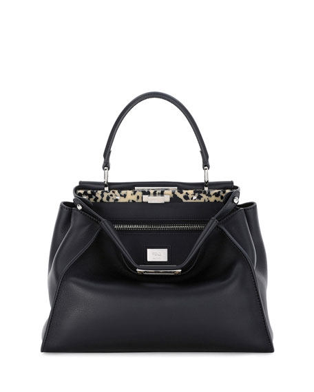 Fendi Medium Granite Resin Bar Peekaboo Satchel Bag,