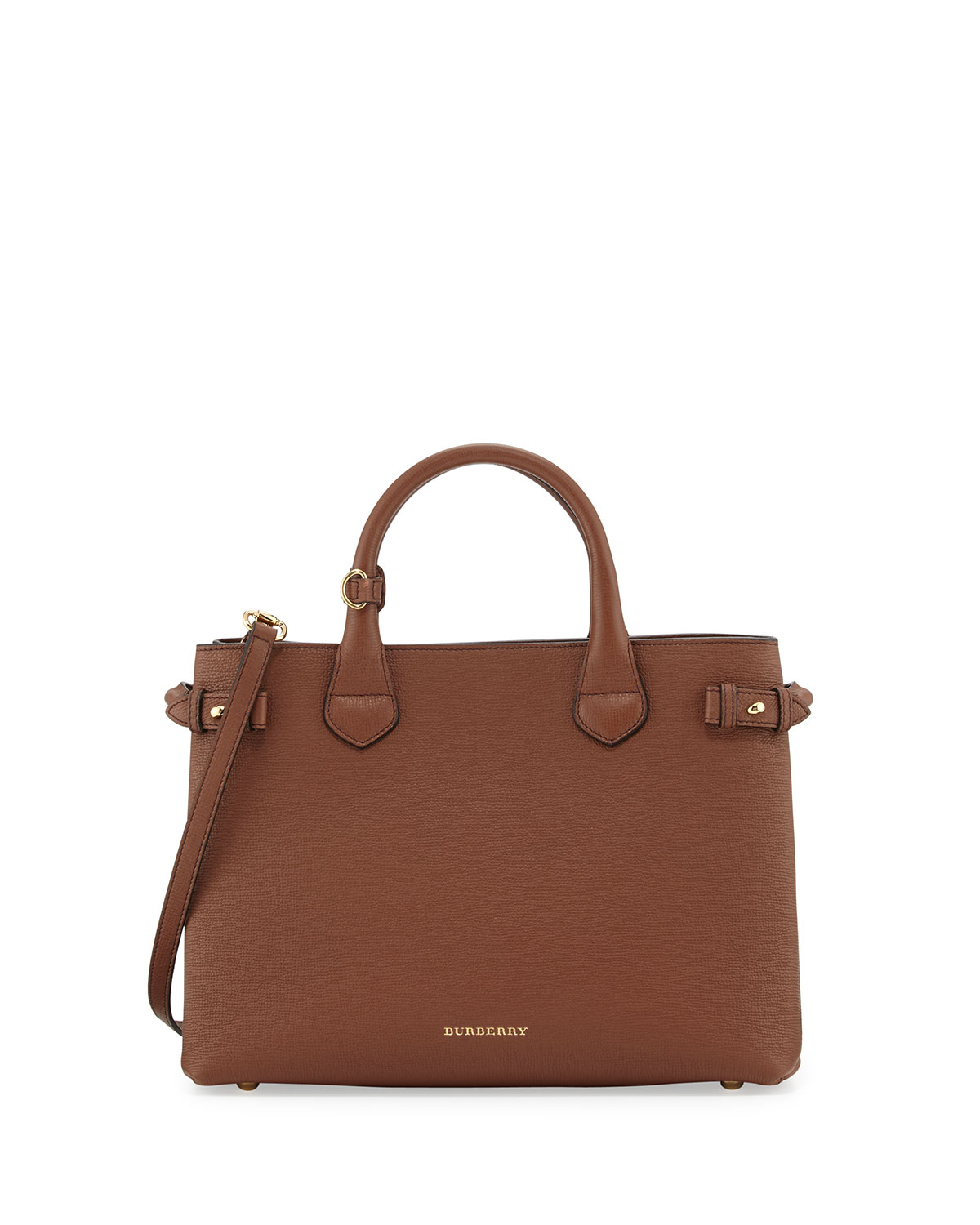 09cdc37931 Burberry Banner Medium House Check Derby Tote Bag, Tan | Neiman Marcus