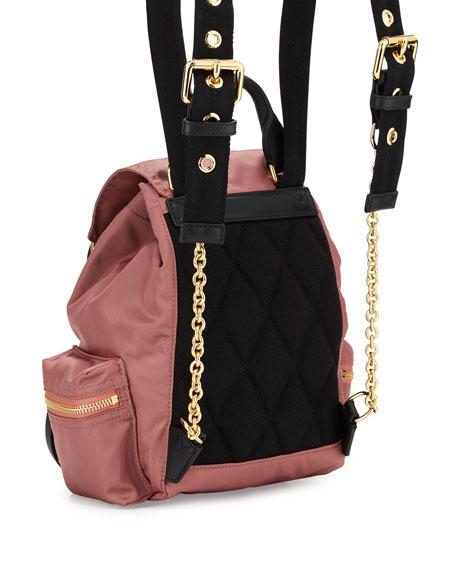 Runway Small Rucksack Nylon Backpack, Mauve Pink