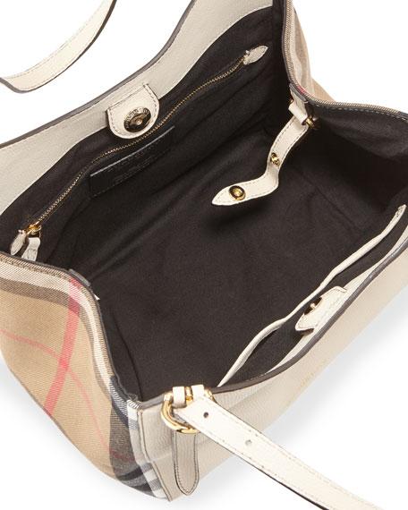 Canterby Small Check Shoulder Bag, Limestone