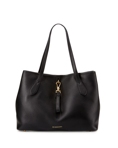 Burberry Honeybrook Medium Derby Tote Bag, Black