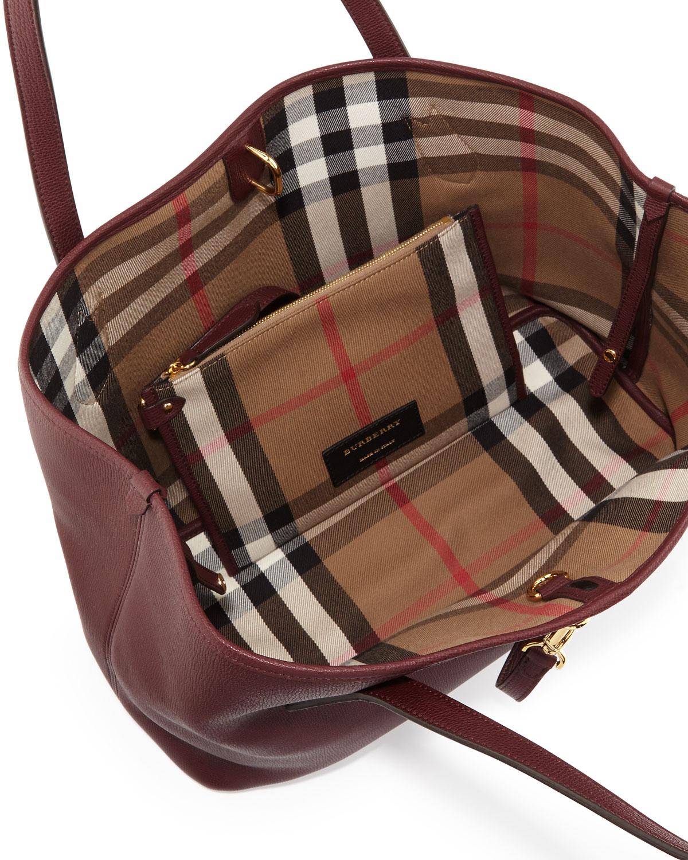 d81b6a8873 Burberry Honeybrook Medium Derby Tote Bag, Mahogany Red | Neiman Marcus