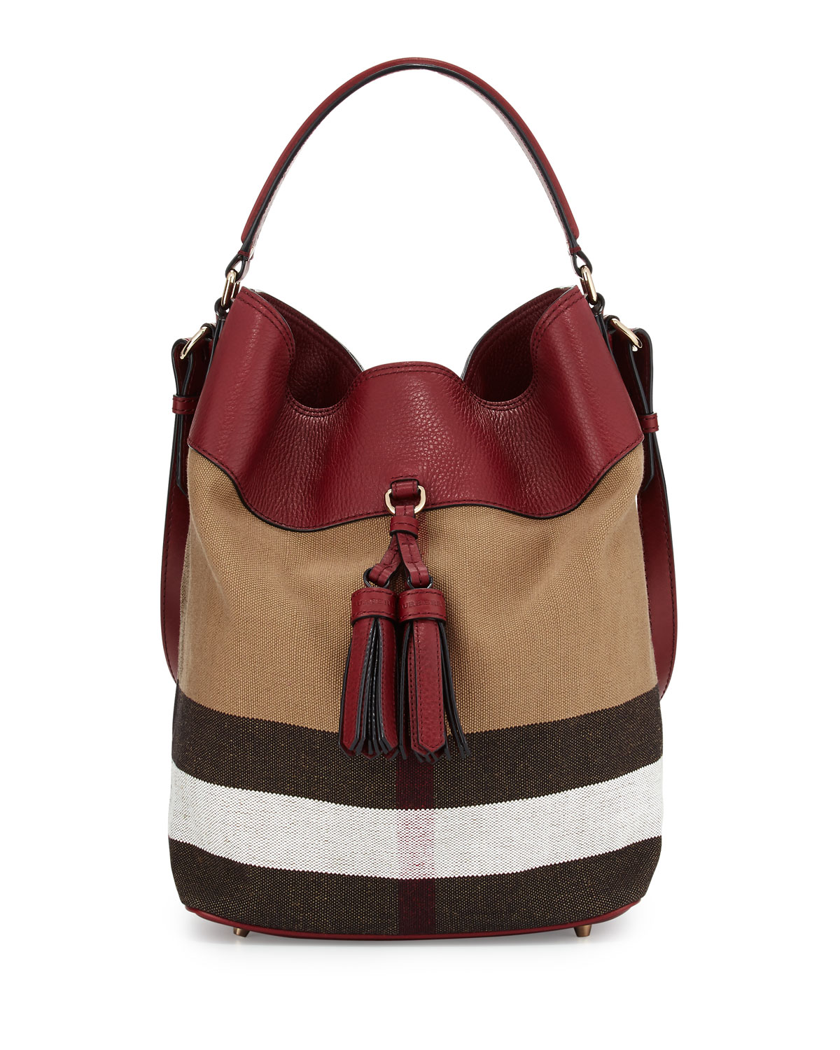 deb1c19942c2 Burberry Ashby Medium Unstructured Check Leather Bag
