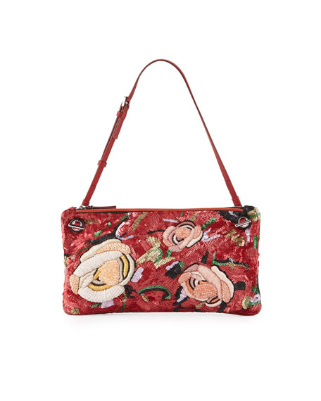 THE ROW Happy Hour 10 Floral Pouch Shoulder
