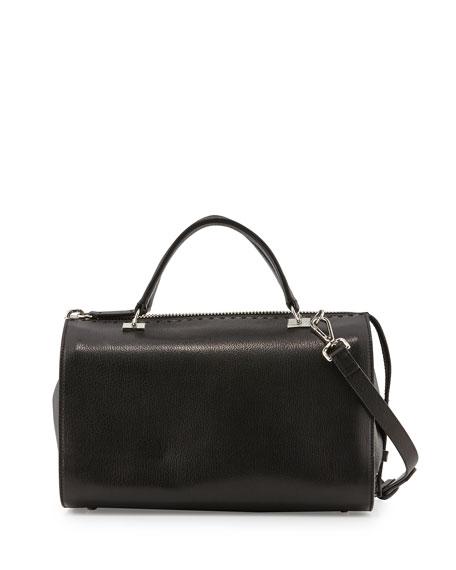 CoSTUME NATIONAL Leather Large Satchel Bag, Black