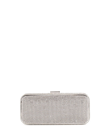 Badgley Mischka Collection Susan Crystal-Embellished Minaudiere
