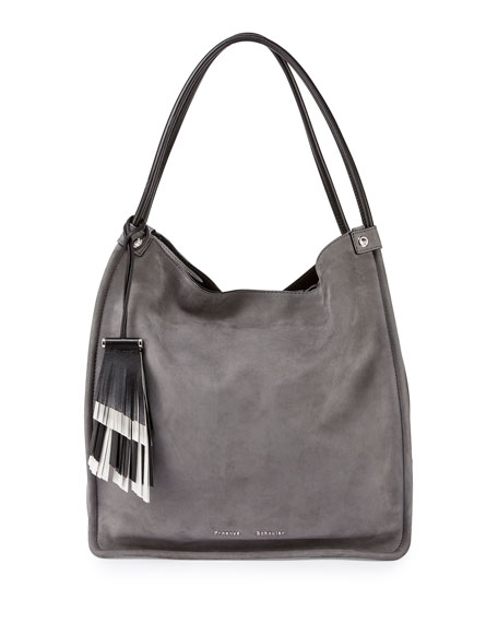 Proenza Schouler Medium Nubuck Leather Tote Bag, Heather