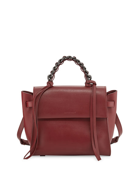 Elena Ghisellini Angel Sensua Medium Satchel Bag Bordeaux