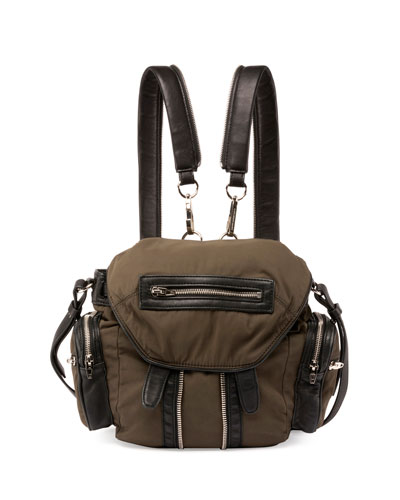 Marti Mini Nylon Backpack, Military