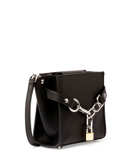 Attica Mini Chain Satchel Bag, Black