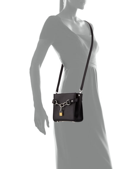 Attica Mini Chain Satchel Bag, Black