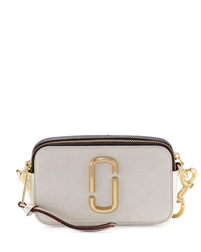 Snapshot Small Leather Camera Bag, Sand Castle/Multi