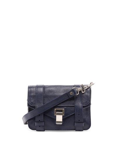 PS1 Mini Leather Crossbody Bag, Indigo