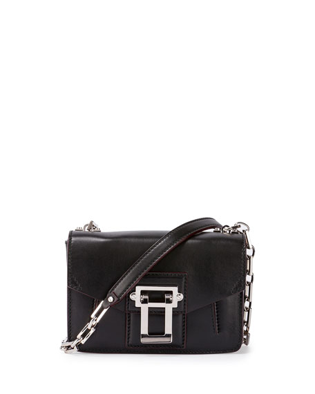 Proenza Schouler Hava Smooth Leather Crossbody Bag, Black
