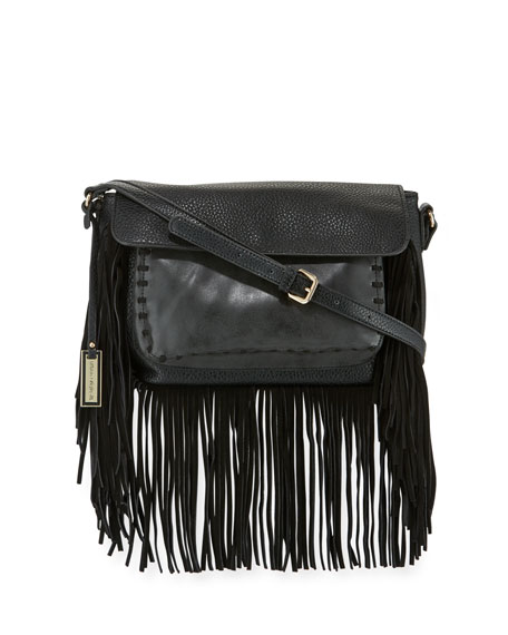 Urban Originals Mania Fringe Shoulder Bag, Black
