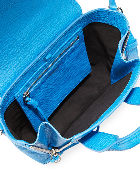Pashli Mini Satchel Bag, Cyan