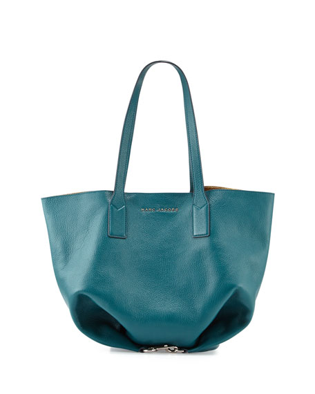 Marc Jacobs Wingman Shopping Tote Bag, Teal/Multi