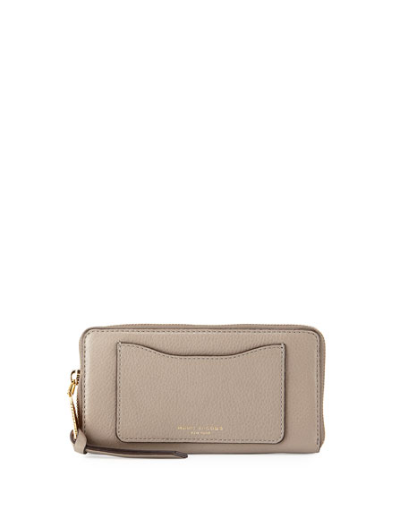 Marc JacobsRecruit Leather Continental Zip Wallet, Mink