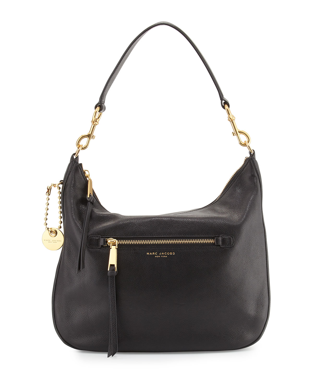 Marc Jacobs Recruit Leather Hobo Bag, Black   Neiman Marcus aa2b2f15d5